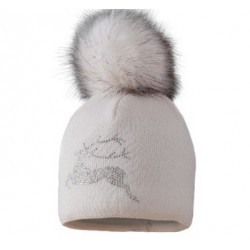 Silver women's hat