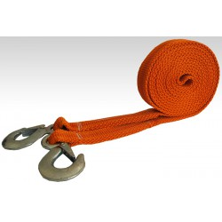 Tape tow rope with a hook