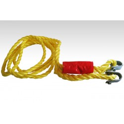 Braided tow rope with shackle