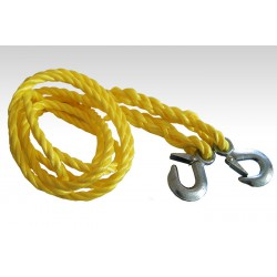 Braided tow rope with hook