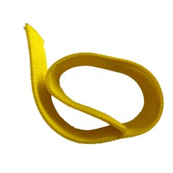 Protective sleeve for the belt 50mm thick yellow polyester with a sling