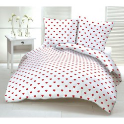 Bed linen. Deluxe cotton 100% cotton, button fastening, printed or colored - high fabric density