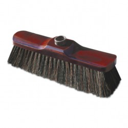 Broom with natural bristles 28cm LUX collective packaging 20 pieces