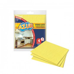 Sponge cloth 4 + 1 pc free! AZUR - collective packaging of 90 pieces