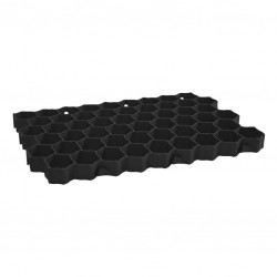 Garden grate 40mm black collective packaging 16 pieces