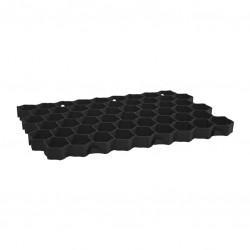 Garden grate 30mm black collective packaging 16 pieces