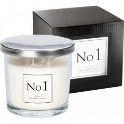 Premium scented candle in glass with two wicks, pack of 6 pieces