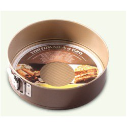 Chocolate non-stick cake tin, one bottom invoiced, pack of 6