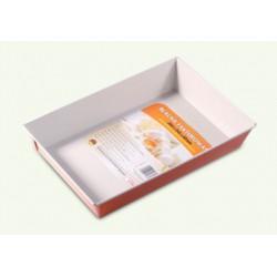 Orange non-stick tray, pack of 6