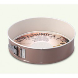 """Springform cake tin with non-stick invoiced """"caffe creme"""" bottom, pack of 6"""