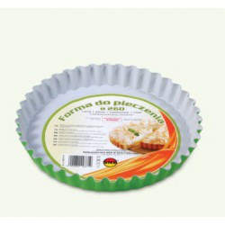 Cake and pizza tin with green / gray protective lining, pack of 6