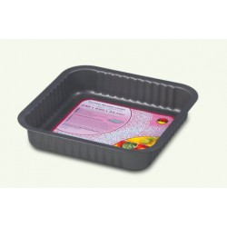 Gray non-stick baking tray (for cakes, pizza), pack of 10