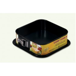 Square springform cake tin with a non-stick protective layer, black, pack of 9 pieces