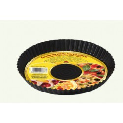 Pizza mold with non-stick protective layer, black, pack of 10