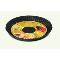 Non-stick fruit cake tin (tarts) black, pack of 10